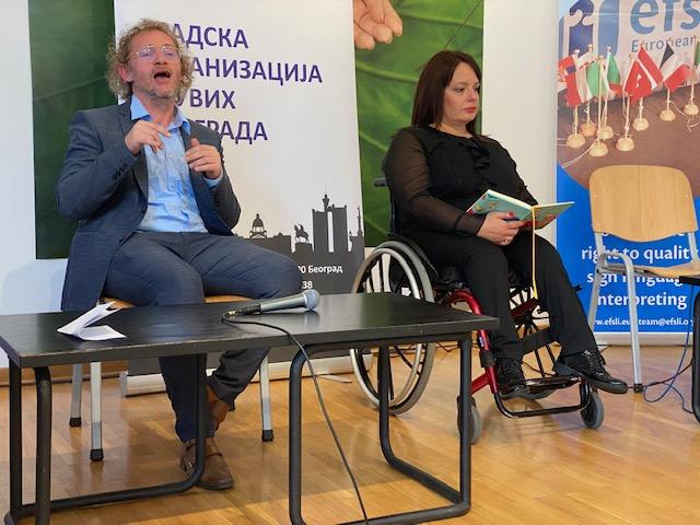 Mihajlo Gordić i Ljupka Mihajlovska Savez za pristupačnost Srbije